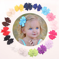 3pcs/lot 16 color Lovely Baby Toddler Girls swallowtail  ribbon hairpin Satin bow Headwear 8.5*8.5cm 3 months - 10 years old