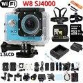 Mini Action Sports Cámara Digital WIFI W8 Impermeable Casco Videocámara de 170 Grados de la Lente HD Cam DVR SJ4000 Buceo Extremo Estilo