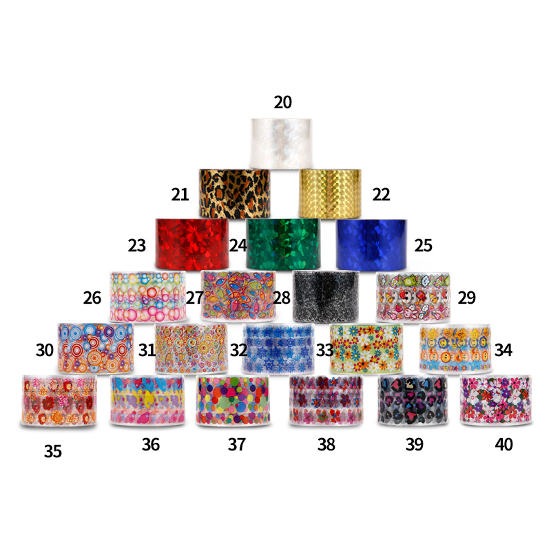 1 Roll  Shimmer Starry Sky Nail Foil Colorful Nail Starry Glitter Transfer Sticker Manicure Nail Art Decoration 1 roll 4cm 120m gold silver holo starry sky nail foil tape nail art transfer sticker nail art decoration tools