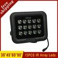 Surveillance CCTV Camera Outdoor Black 15pcs 27W Array Infrared leds Fill Light IR illuminator Night-vision  Lamp Free Shipping