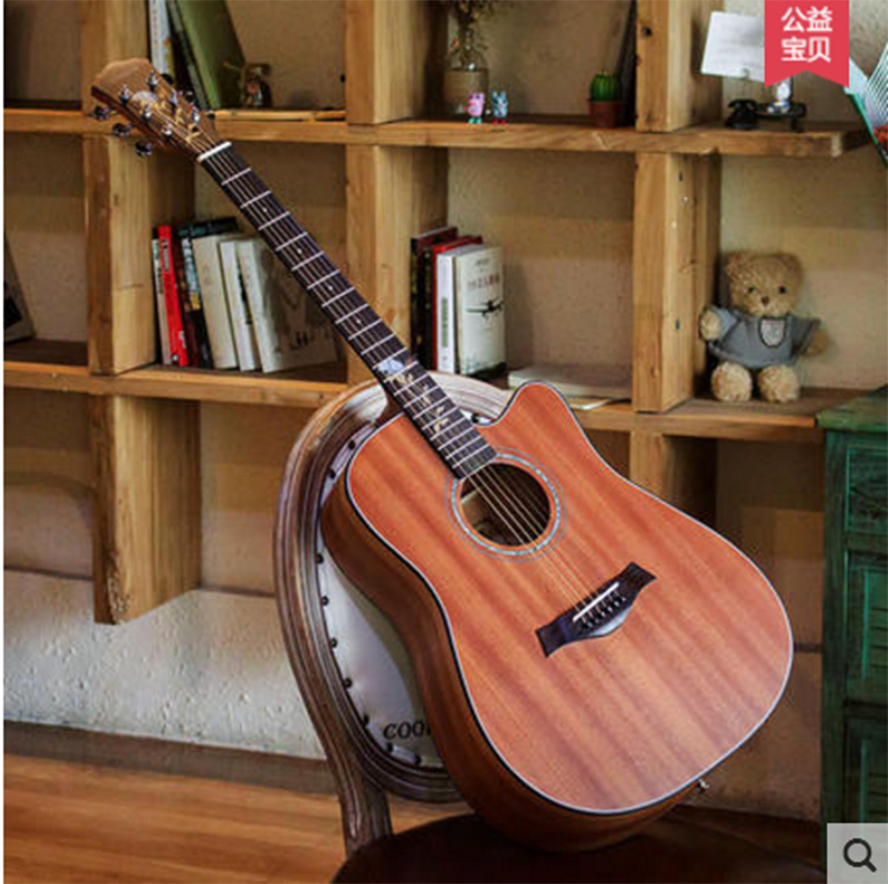 אנדרו אנדרו 40 אינץ '41 אינץ' פולק גיטרה - כלי נגינה