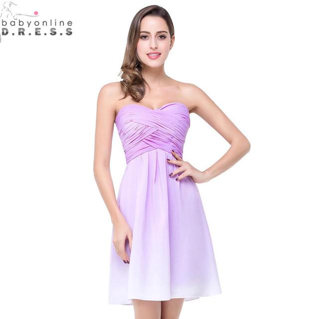 673074c667b Robe Demoiselle D honneur Sexy Backless Ombre Chiffon Short Bridesmaid  Dresses for Wedding 2017 Vestido