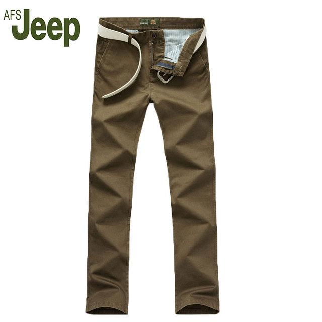 2016 nueva AFS JEEP Cuatro Estaciones modelos de explosión de los hombres de negocios pantalones casuales pantalones rectos clásicos de la manera Delgada pantalones largos Pantalones 74