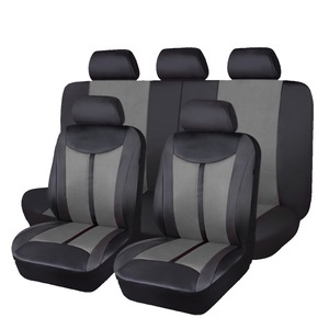 Image 5 - 2020 flying Banner High PU Leather Full Set  Universal Car Seat Cover unversal size for most cars automobiles in hot