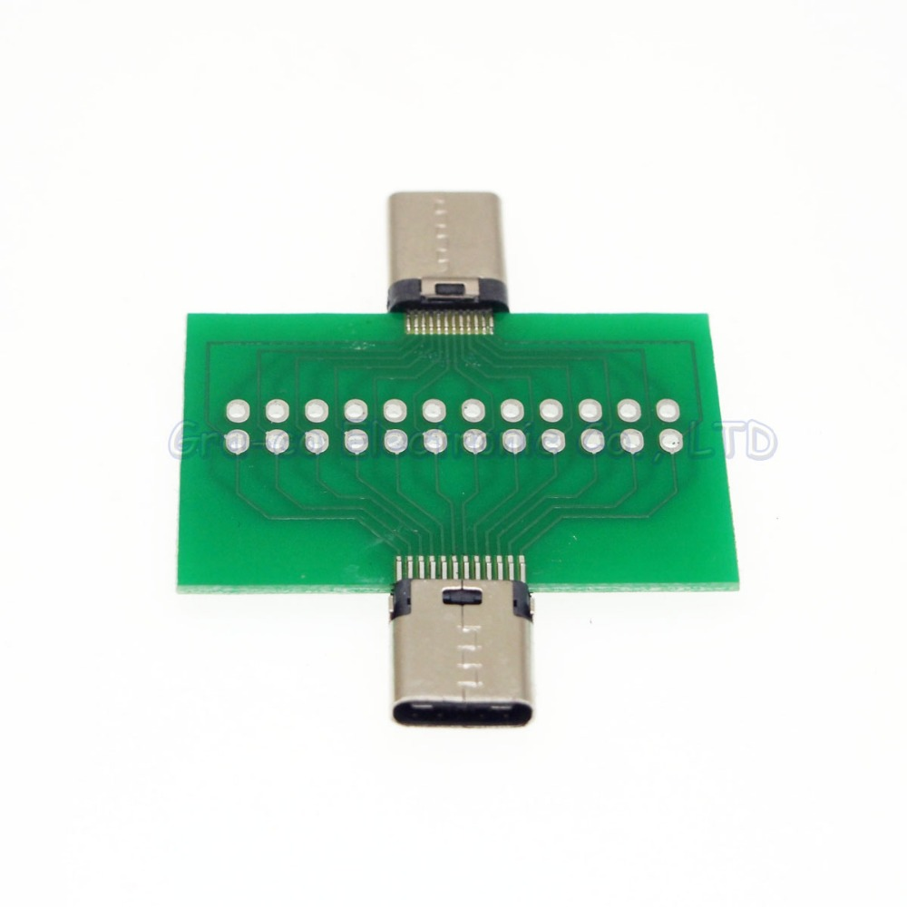 5pcs/lot USB3.1 male to female test board With PCB board USB3.1 type-C Conversion