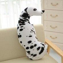 CAMMITEVER bianco simpatico cane macchiato giocattolo morbido cuscino imbottito cuscino divano regalo di compleanno per bambini