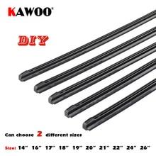 "KAWOO Car Vehicle Insert Rubber strip Wiper Blade (Refill) 8mm Soft 14"" 16"" 17"" 18"" 19"" 20"" 21"" 22"" 24"" 26"" 2pcs Accessories"
