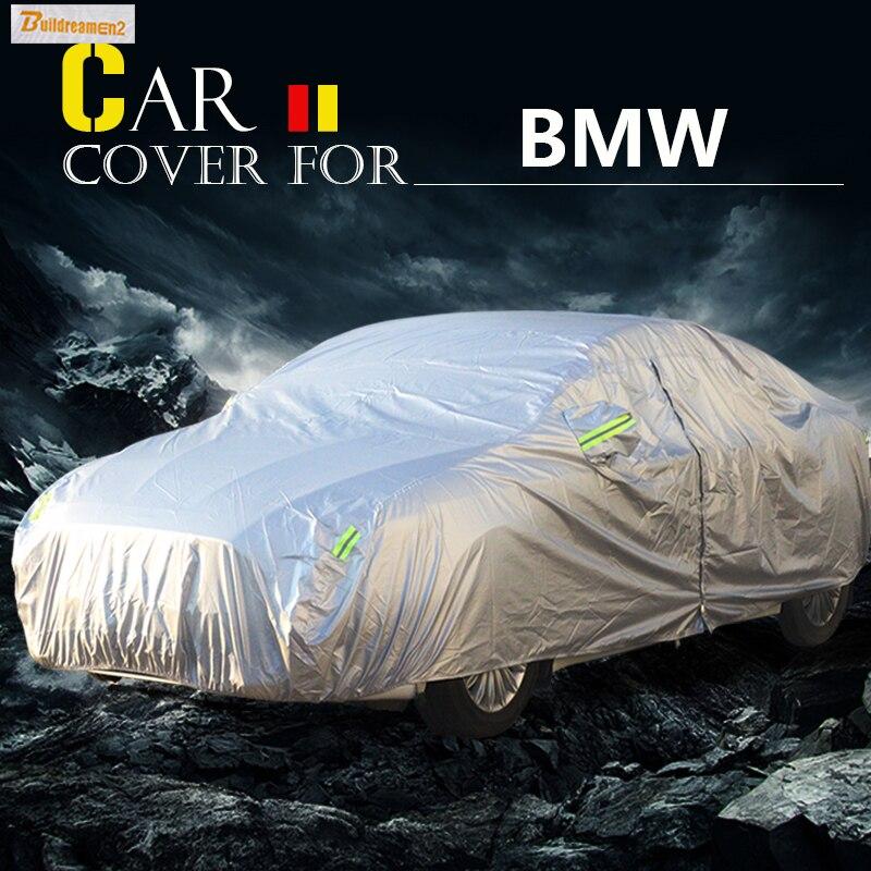 de22363ad Buildreamen2 الكامل غطاء السيارة المضادة للأشعة فوق البنفسجية الشمس الظل  الثلوج المطر الصفر الغبار مقاومة غطاء للماء ل BMW 4 سلسلة 420i 430i 440i