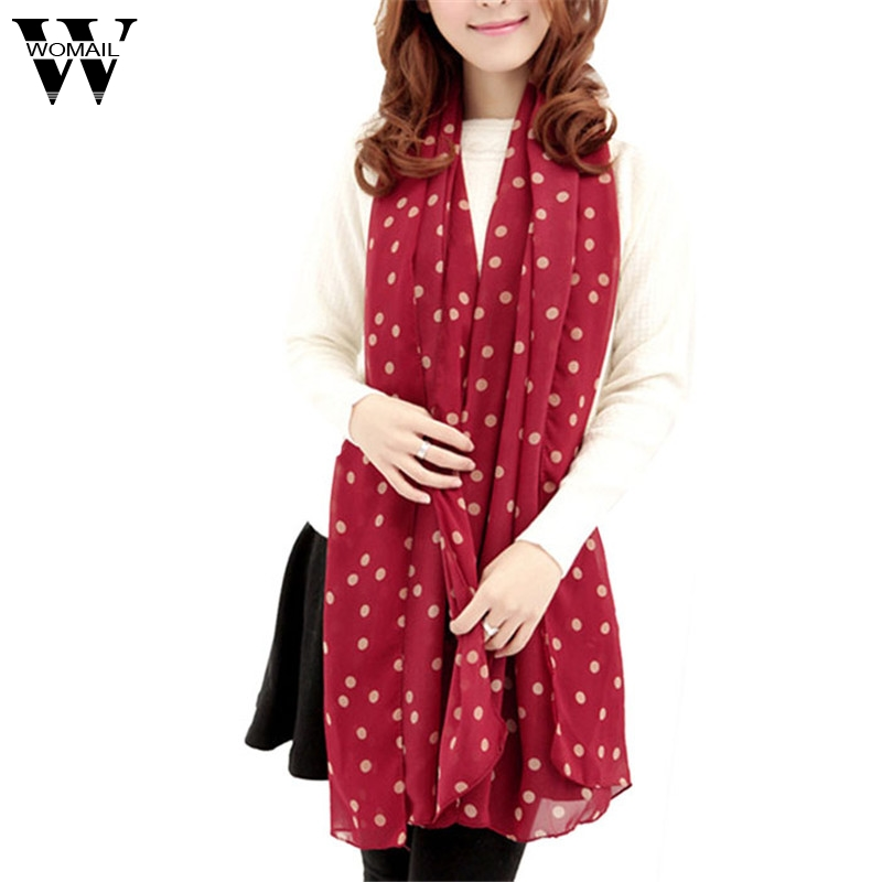 Amazing New Stylish Girl Long Soft Silk Chiffon   Scarf     Wrap   Polka Dot Shawls and Scarve For Women