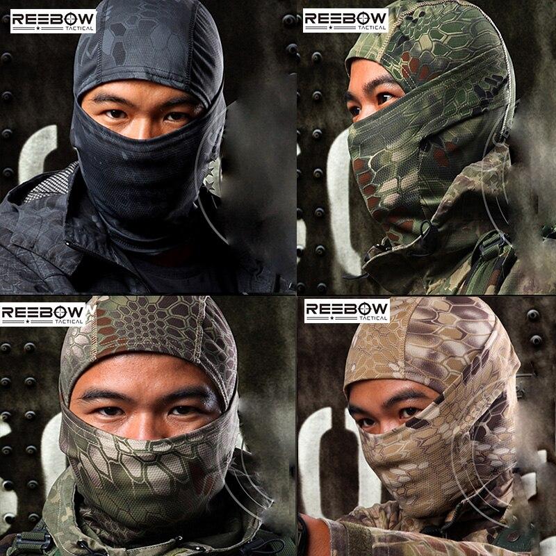 야외 위장 전술 Balaclava 마스크 군사 페인트 볼 전체 얼굴 Airsoft 머리 장식 빠른 건조 오토바이 스키 사이클링