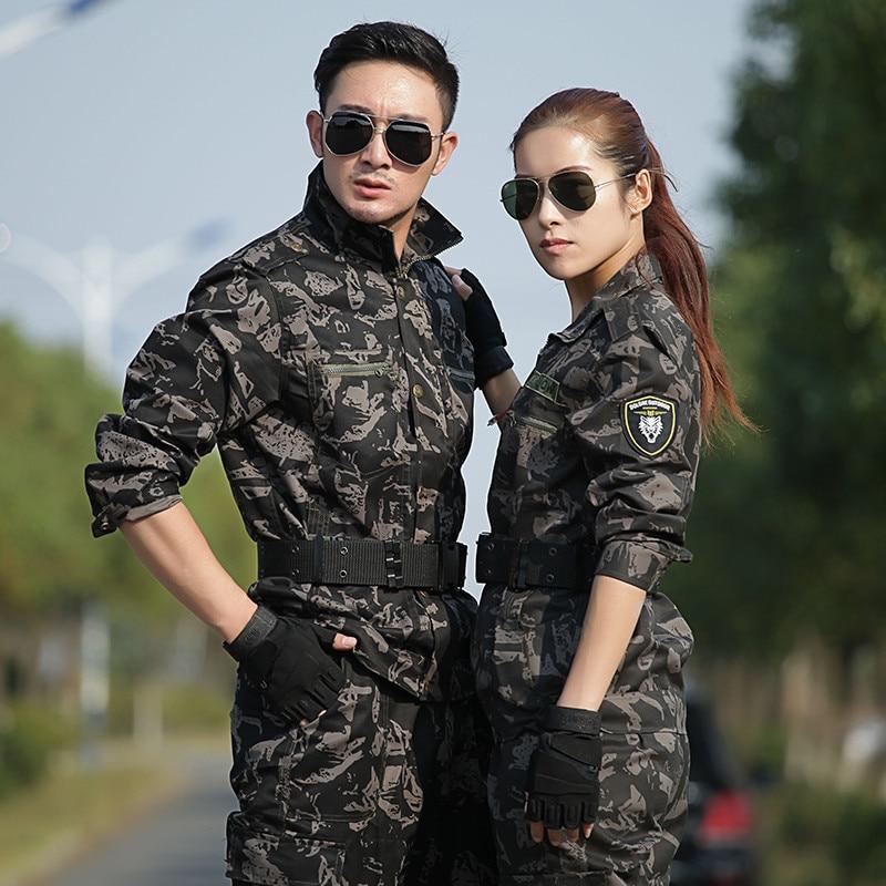 Military Uniform Combat Clothing Black Hawk Camouflage Army Sets Pants Men Tactical CS Uniforme Militar Working Clothes Female