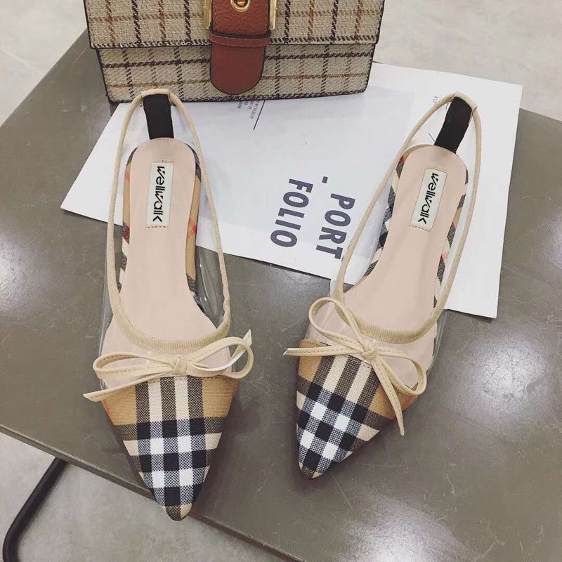 Ladies Shoes 2018 Transparent Ballerinas Fashion Women Pointed Toe Ballet Flats Spring Casual Women Flats Shoes Size 34-38 odetina 2017 brand fashion women casual flat spring shoes pointed toe ballet flats bowknot slip on loafers ballerinas plus size