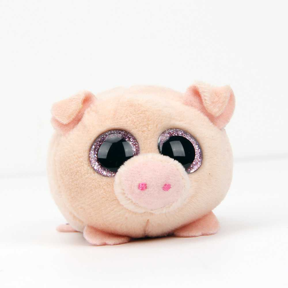 10cm Ty Beanie Boos Plush Animal Doll Toy Pig kimi dog Toys TSUM Kawaii Gift for Baby Girl Pig Doll Christmas present Birthday stuffed dog plush toys black dog sorrow looking pug puppy bulldog baby toy animal peluche for girls friends children 18 22cm