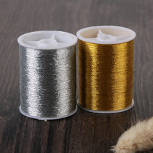 Hot 2pcs Gold/Silver 100m Durable Overlocking Sewing Machine Threads Polyester Cross Stitch Strong Threads for Sewing Supplies(China)