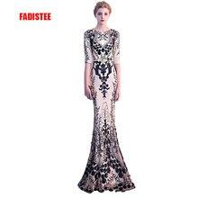 FADISTEE New arrival elegant party dress evening dresses Vestido de Festa gown bling sequin half sleeves sexy stretch prom dress