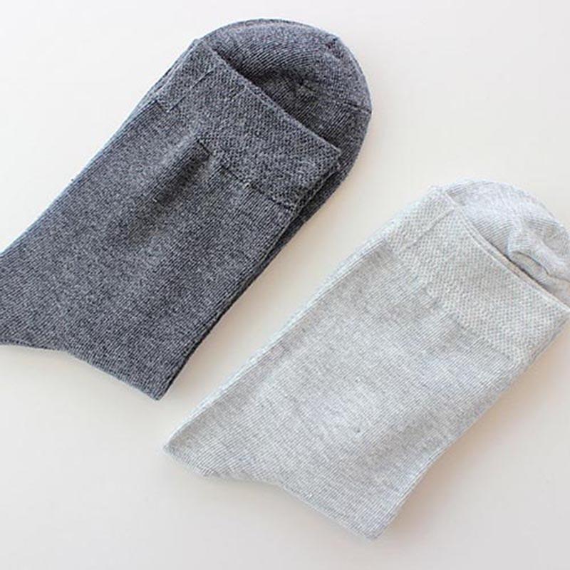 Fashion Mens Socks Summer Cotton Formal Solid Color Breathable Short Sock Business Black Excellent Quality Male Sock Meias 75Z
