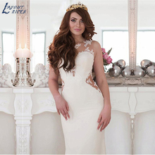 LAYOUT NICEB SHJ325 O-neck Neckline Mermaid Wedding Dress