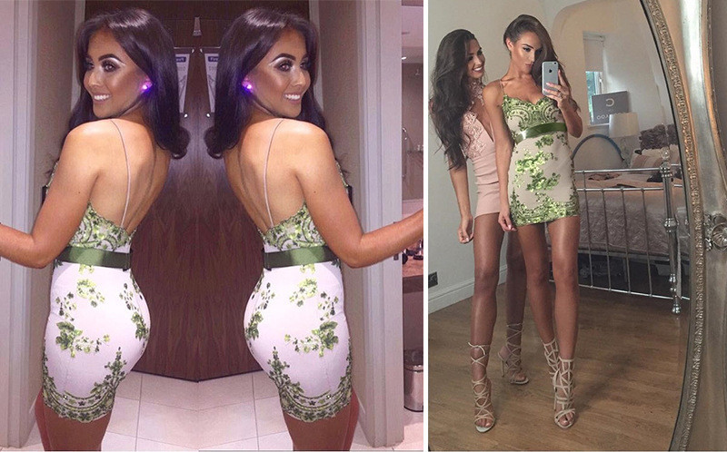 Sexy Spaghetti Strap sequins Summer women Dress V neck Backless party dress elegant bodycon beach Night club Dresses vestidos in Dresses from Women 39 s Clothing