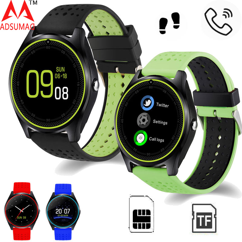 Bluetooth Smart Watch V9 Micro SIM card 2G With Camera Pedometer Health Sport MP3 music Clock Smartwatch For Android suppport цена