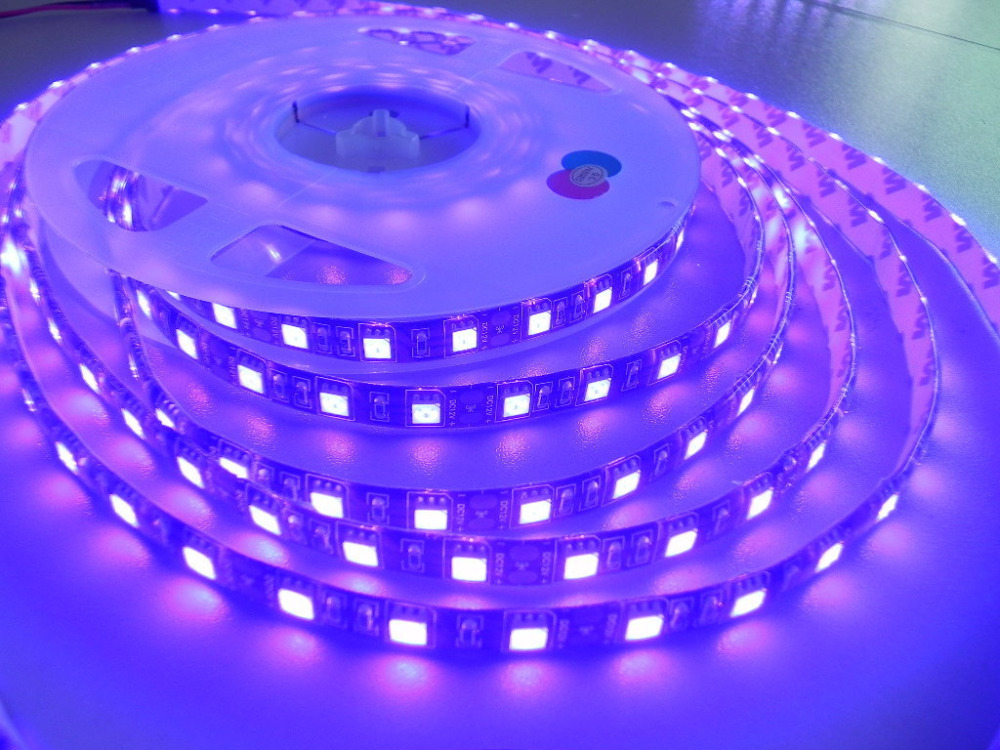 10mlot uv led strip 5050 60ledsm dc12v purple ultraviolet ip54 10mlot uv led strip 5050 60ledsm dc12v purple ultraviolet ip54 led flexible tape ribbon light with identify money function in led strips from lights mozeypictures Images