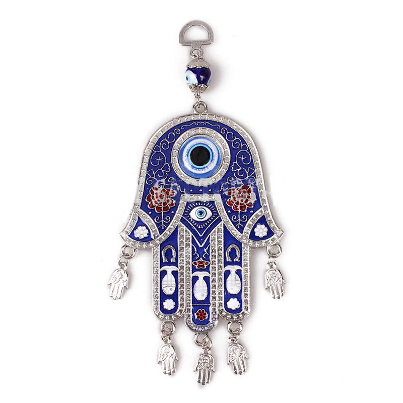 Blue evil eye amulet car hanging ornament accessories wall hanging blue evil eye amulet car hanging ornament accessories wall hanging home decoration lucky protection in wind chimes hanging decorations from home garden mozeypictures Images