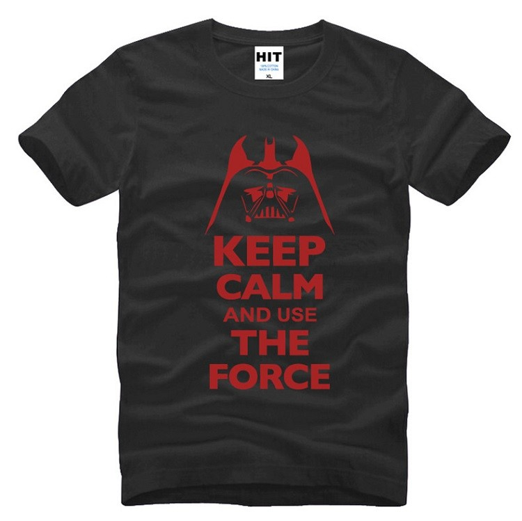 buy star wars black tshirt with red slogan keep calm and use the force darth vader