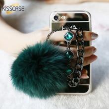 KISSCASE Волос Меха Мяч Бинг Драгоценный Камень Зеркало Чехол Для iPhone 7 6 6 s Плюс Ультра Тонкий Тонкий Чехол Для iPhone 6 s 6 Плюс 7 Плюс Fundas