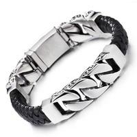 Stainless Steel Men S Leather Bracelet Religious Totem Personalized Men S Bracelet Men S Jewelry Jewelry