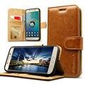 Jisoncase Geniune Кожа Флип Бумажник Case Для Samsung Galaxy S7/S7 Edge