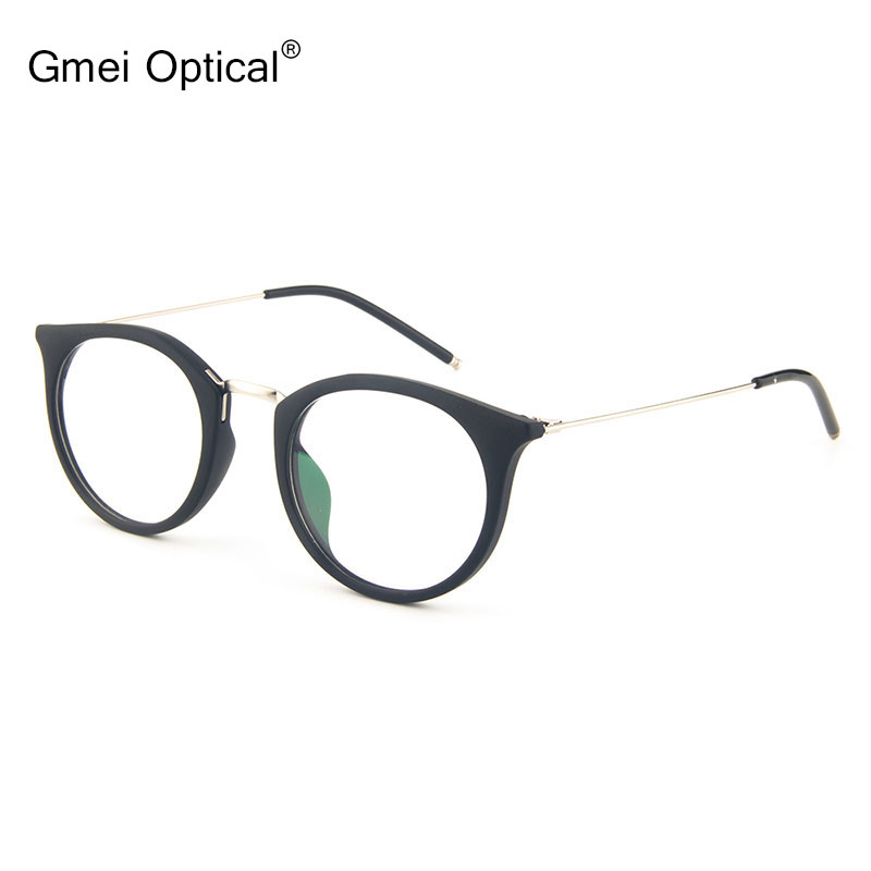 a3d16584a7c Gmei Optical T9056 Acetate Full Rim Oval Black Frame Eyeglasses for Women  and Men Spectacles Eyewear-in Eyewear Frames from Apparel Accessories on ...