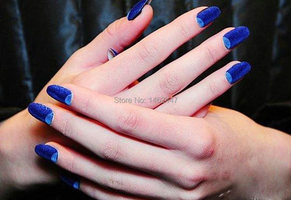1 box 12 Colors Fashion Nail art Decoration Fuzzy Flocking Velvet ...