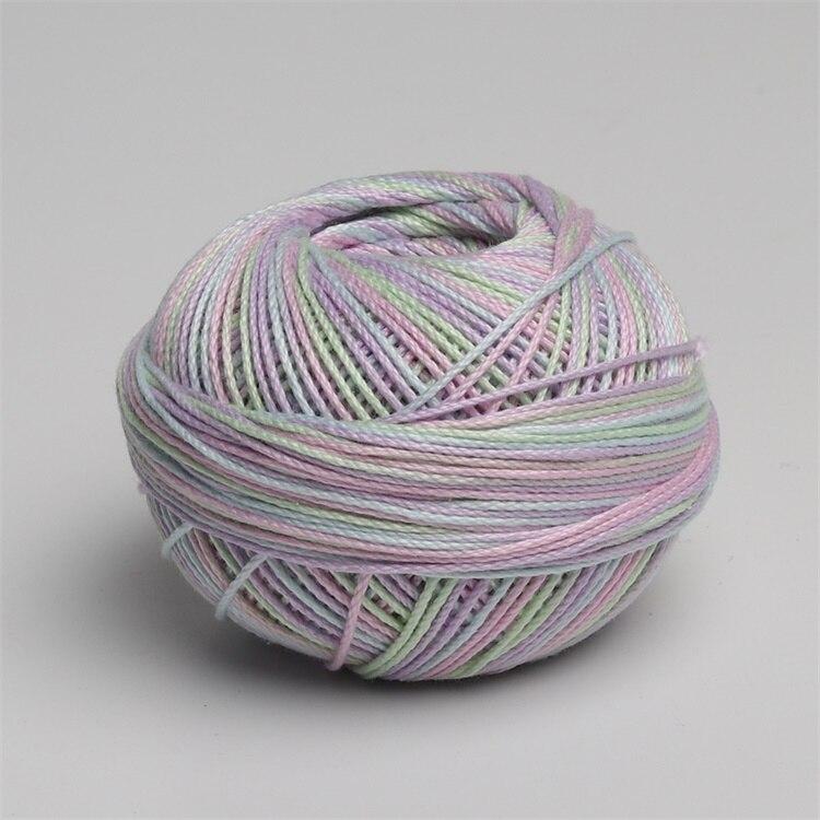 Размер 3 хлопок жемчуг пестрый 50 грамм мяч египетская длинноштапельная хлопковая пряжа газированная двойная мерсеризованная 6 нитей плетение - Цвет: 159