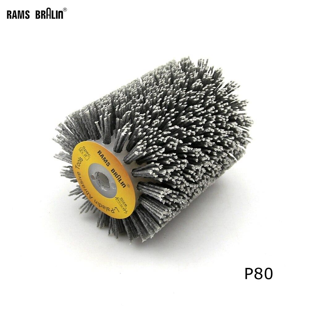 1 unids 100*120*13mm abrasivos cepillo de alambre rueda de 9741 rueda lijadora P80-P600 muebles de madera pulido molienda herramienta