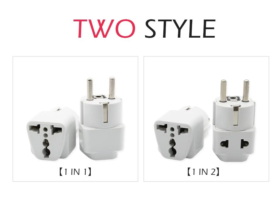 1PC European EU Plug Adapter High Quality Practical Universal US UK AU to EU Plug Travel Power Adaptor Electric Charger Sockets (9)