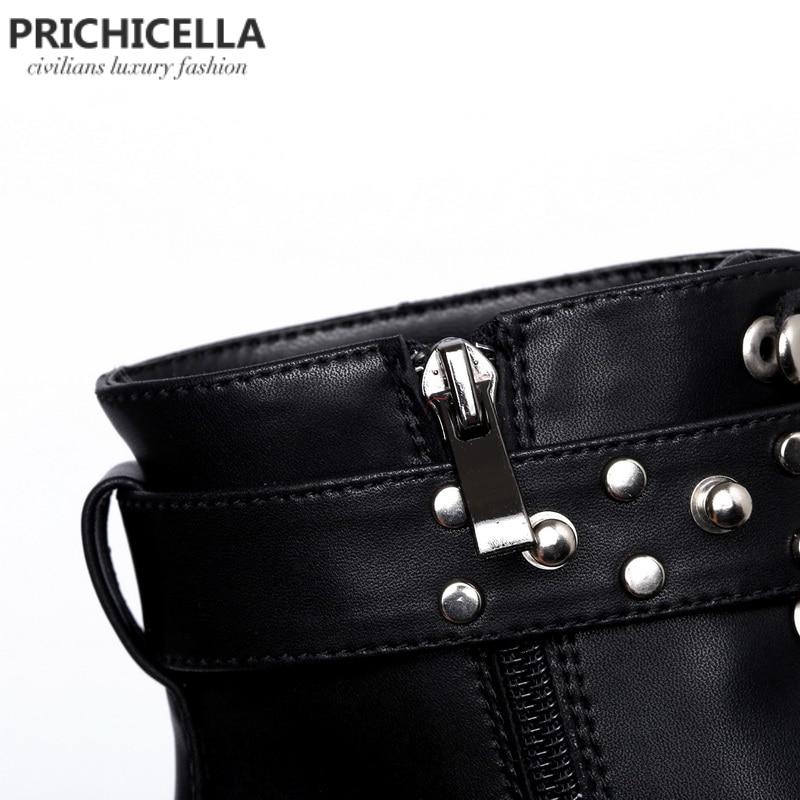 PRICHICELLA qualidade preto flats de couro genuíno