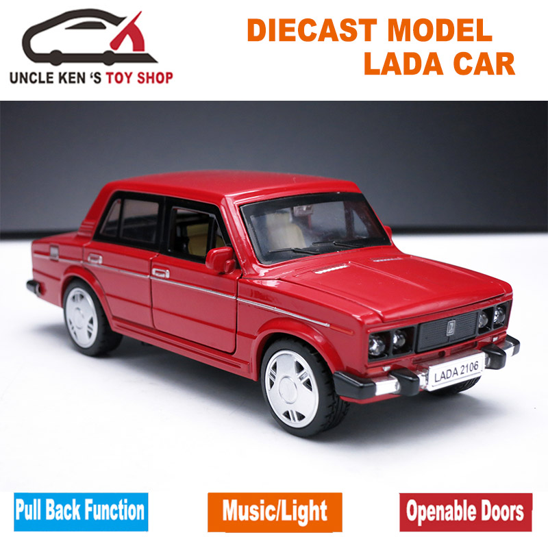 Vaz Modelo de Coche, 1: 32 Escala Diecast Car Lada, aleación toys for kids boys,