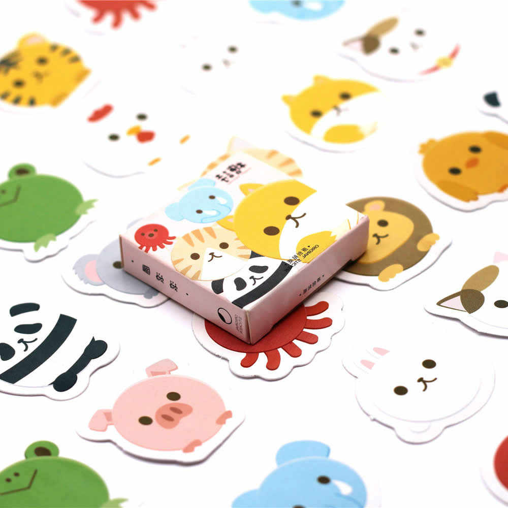 1pcs Kleine Winkel Leuke Cartoon Stickers Tol Gift Speelgoed Jongen Meisje Kinderen