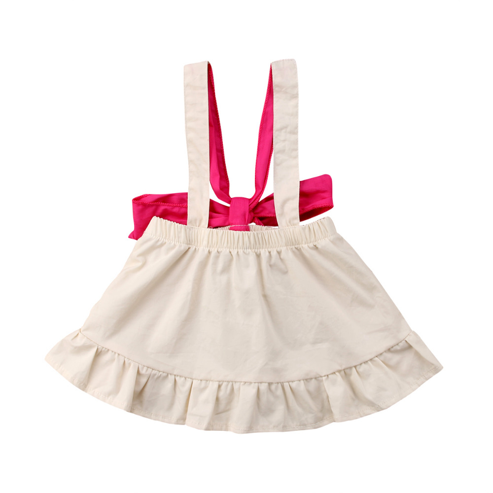 Newborn Infant Kids Baby Girls Dress Overall Backless Bow Princess Party Dress Summer Clothes Vestidos