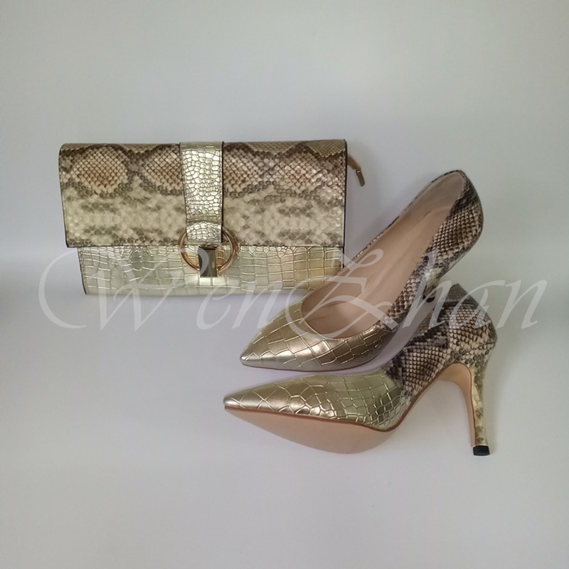WENZHAN Pumps High heels shoes Golden stitching 10CM ladies party pointed toe slip on shoes match clutch handbag size36-43 10-25WENZHAN Pumps High heels shoes Golden stitching 10CM ladies party pointed toe slip on shoes match clutch handbag size36-43 10-25