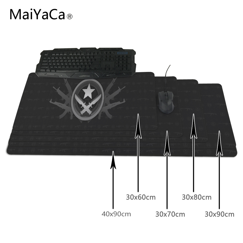 MaiYaCa Print Locking Edge Rubber Mousepads for Cs Go Counter Strike Mice Mat DIY Design Pattern Computer Gaming Mouse Pad