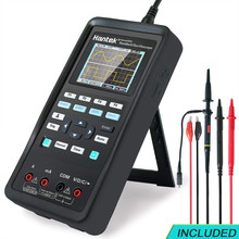 Hantek Osciloscopio Digital 3 en 1 + generador de forma de onda + multímetro 40mhz 70mhz, USB de mano, 2 canales, multifunción, Osciloscopio