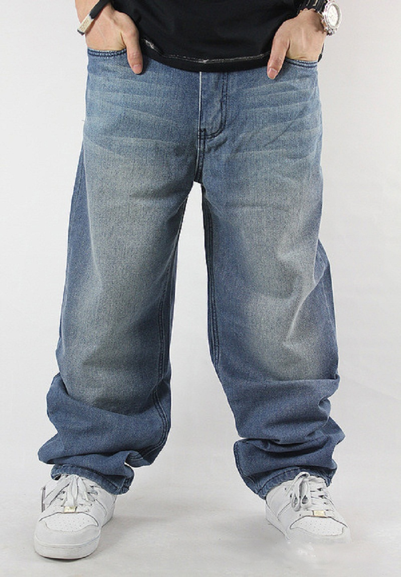 This is a great pair of dark wash Men's Levis SilverTab Baggy Fit Denim Blue Jeans Pants Zip Fly 38 x Some fray on hem. Very good, clean Preowned condition.