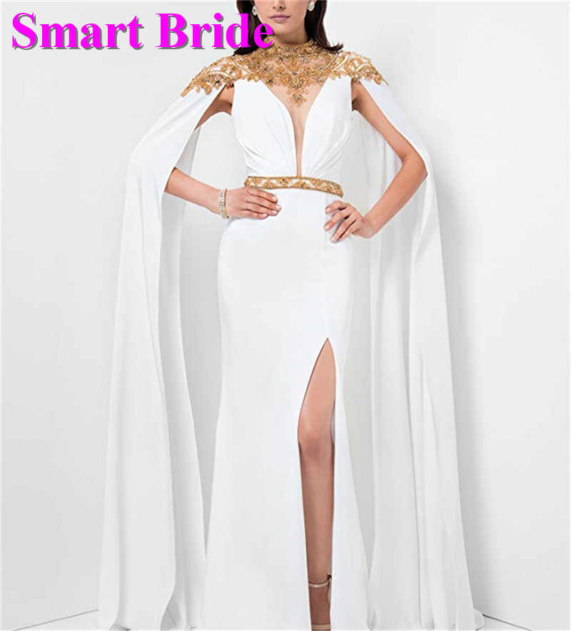 High Neck   Prom     Dresses   Long Mermaid Chiffon Black Blue Bridesmaid Elegant Gowns For Women Custom Made 2019 PD84
