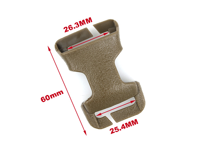 airsoft accessories Tactical Vest buckle outdoor backpack Bag buckle G X-CON Quick Attach MOLLE Bukle 1 inch for hunting (10)