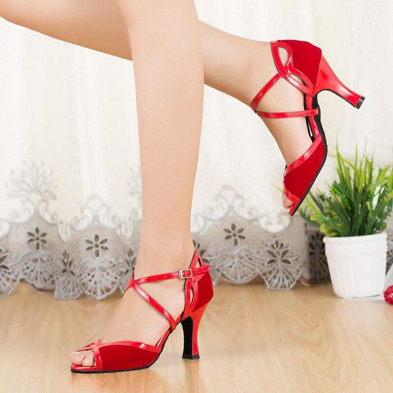 Бренд танец Костюмы для латиноамериканских танцев Обувь Для женщин взрослые дамы высокий каблук (5 см) Танго Костюмы для бальных танцев Salsa Т... ...
