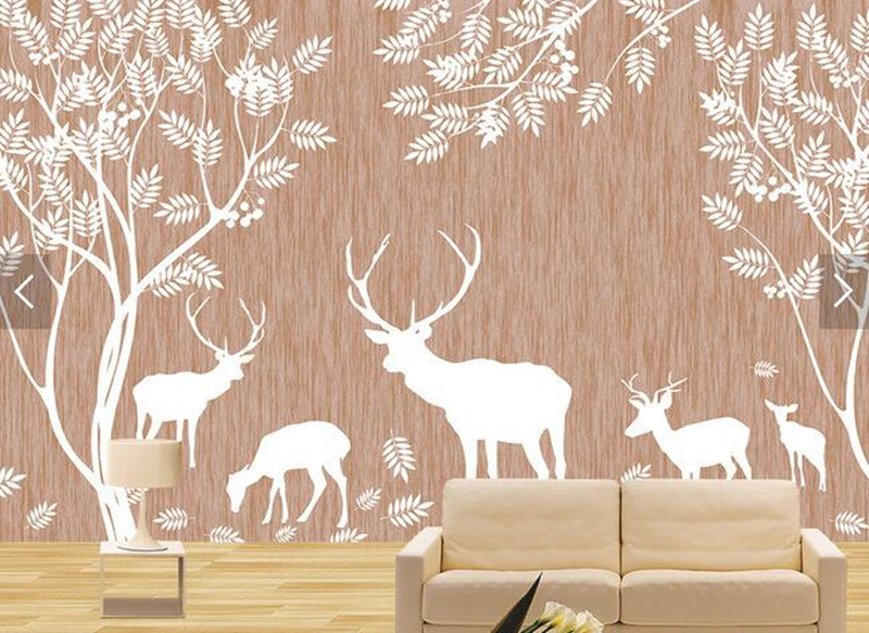 Latest 3D mural, Elegant art jungle deer papel de parede,hotel coffee shop restaurant living room sofa TV wall bedroom wallpaper