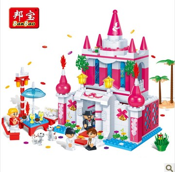 Banbao 6101 552 pcs Wedding Series Happy Palace Blocks Toys for Girls Plastic Building Block Sets Educational DIY Bricks Toys samsung rs 552 nruasl