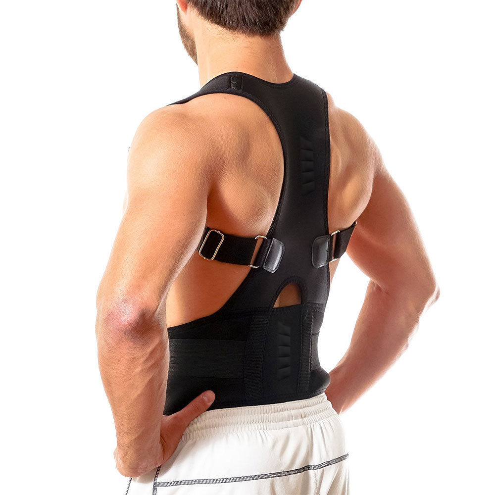 Furniture Industrious Adjustable Breathable Gym Sports Single Shoulder Support Back Brace Guard Strap Wrap Belt Band Pads Black Bandage Face Lift Tool