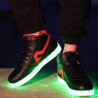 Running Shoes For Men LED Yee Casual Shoes High Top Brand Led Shoes For Outdoor PU