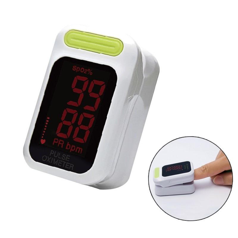 Oxymètre de pouls à doigt avec étui oxymètre de pouls à LED